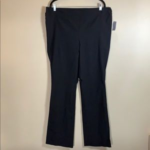 Warehouse One size 1X black stretchy pants NWT